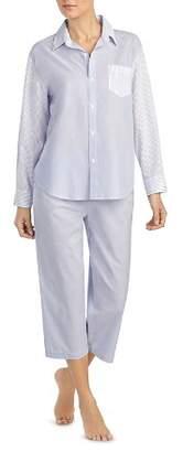Ralph Lauren Petite Mixed Stripe Capri PJ Set