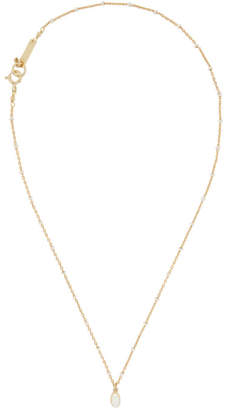 Isabel Marant Gold and Ecru Medaille Necklace
