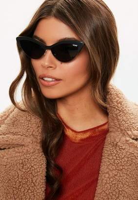 Missguided Quay Australia X Finders Keepers All Night Black Sunglasses