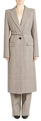 Givenchy Women's Plaid Belted Long Coat