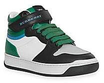 Burberry Kid's Duke Grip-Tape High-Top Sneakers