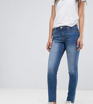 Asos Tall TALL KIMMI Shrunken Boyfriend Jeans in Blake Vintage Darkwash with Stepped Hem