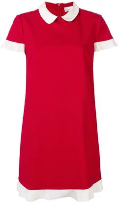 RED Valentino short-sleeve contrast piping dress