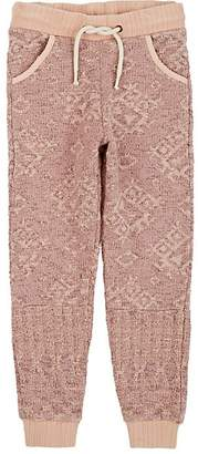 Scotch R'Belle KIDS' GEOMETRIC JACQUARD COTTON JOGGER PANTS