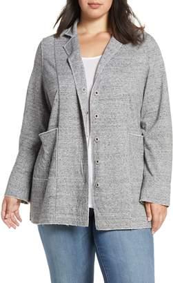 Eileen Fisher Raw Edge Organic Cotton Jacket