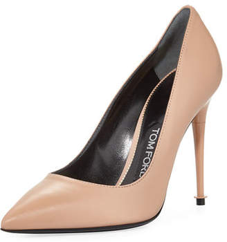 Tom Ford Soft Leather Point-Toe 105mm Pump