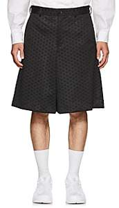 Comme des Garcons Men's Polka Dot Textured Short - Black