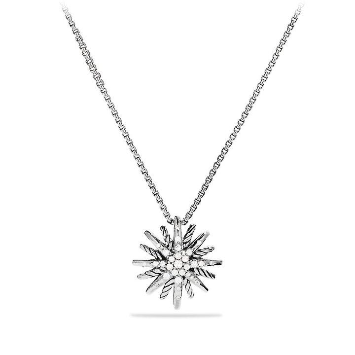 David Yurman Starburst Small Pendant with Diamonds on Chain