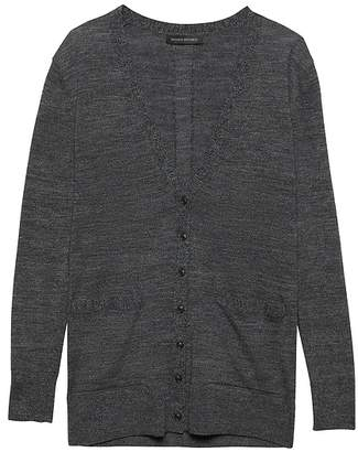 Banana Republic Washable Merino Boyfriend Cardigan Sweater