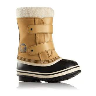 Sorel Fur-Lined Leather Velcro 1964 Pac Strap Boots