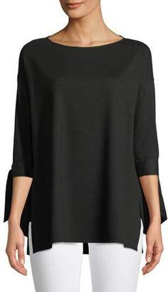Lafayette 148 New York Catriona Lightweight Punto-Knit Top, Plus Size