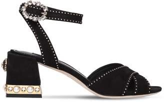 Dolce & Gabbana 60mm Embellished Suede Sandals