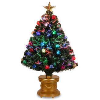 NATIONAL TREE CO National Tree Co. 3 Foot Fireworks Ornament & Top Star Pre-Lit Christmas Tree