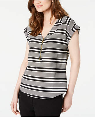 Calvin Klein Striped V-Neck Top