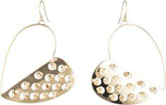 Alexis Bittar Half Heart Grater Wire Earrings