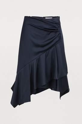 Peter Pilotto Satin asymmetric skirt