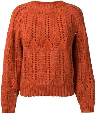 Vanessa Bruno perforated round neck jumper