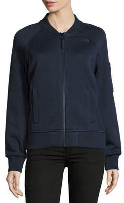 The North Face Kelana Embossed Fleece Bomber Jacket, Urban Navy $130 thestylecure.com