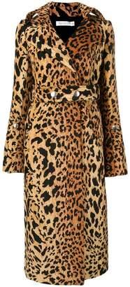 Victoria Beckham leopard print trench coat