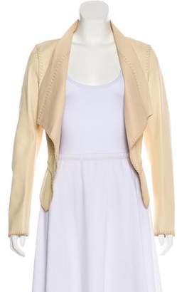 Salvatore Ferragamo Leather Asymmetrical Jacket