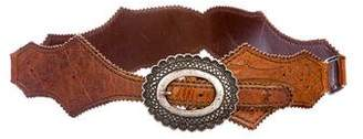 Henry Beguelin Embroidered Waist Leather Belt