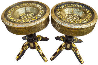One Kings Lane Vintage Handmade Moroccan Tables - Set of 2