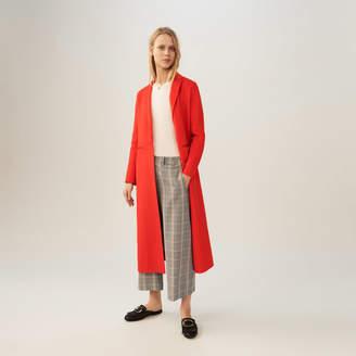 Maje Long double-faced coat