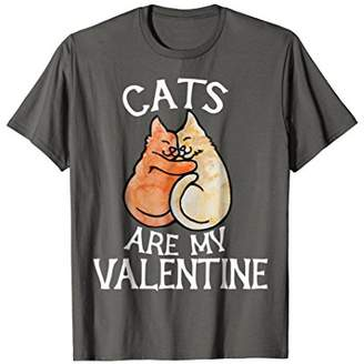 Cats are my valentine t-shirt
