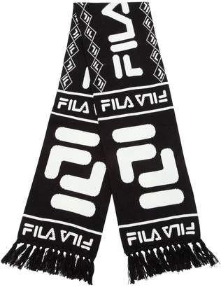 Fila Urban Logo Intarsia Cotton Knit Scarf