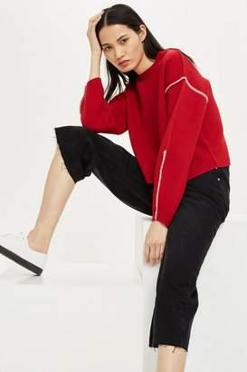 Topshop Petite Black Wide Leg Jeans