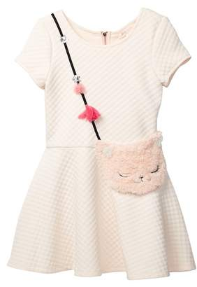 Baby Sara Fleece Kitten Pocket Dress (Toddler & Little Girls)