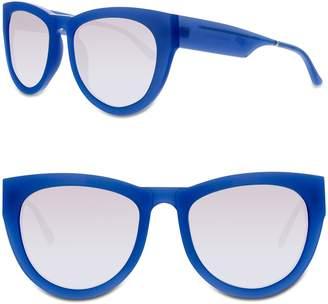 Cat Eye Smoke X Mirrors Runaround Sue 60mm Sunglasses