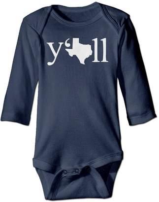 Baby Love Texas Long Sleeve Baby Onesies Romper