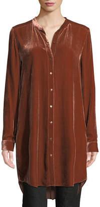 Eileen Fisher Long Washable Velvet Tunic Top