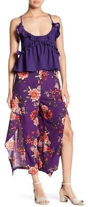 Romeo & Juliet Couture Split Leg Floral Cropped Pants