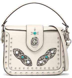 Coach Embellished Leather Shoulder Bag