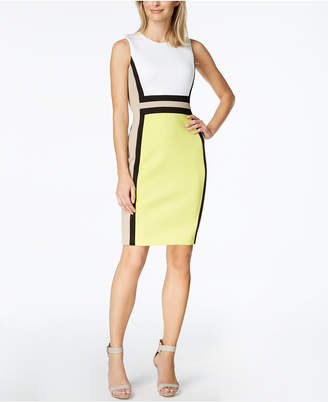 Calvin Klein Petite Colorblocked Sheath Dress