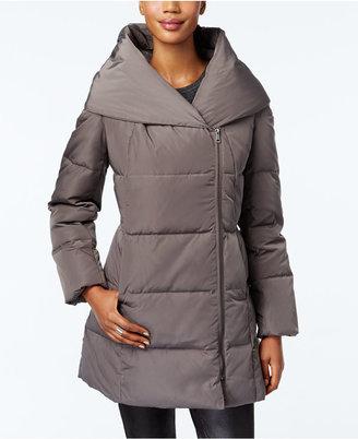 Cole Haan Pillow-Collar Asymmetrical Down Puffer Coat $275 thestylecure.com