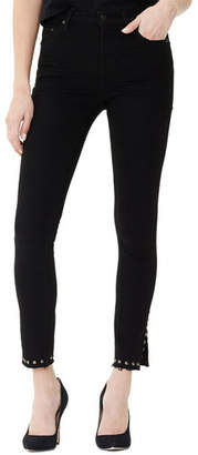 Citizens of Humanity Rocket Cropped High-Rise Jeans with Stud-Split Hem