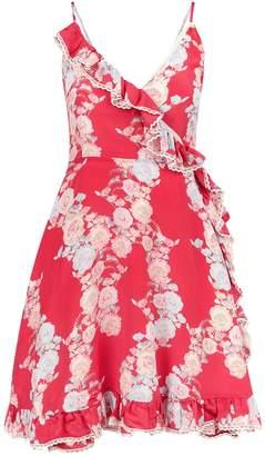 Athena Procopiou Heartbeats Floral Wrap Dress