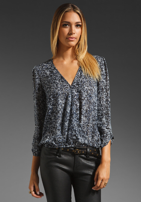 Joie Yogini Abstract Print Blouse