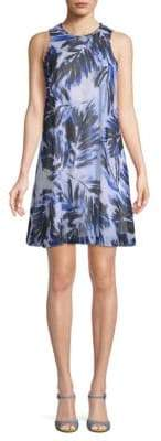 Calvin Klein Printed Sleeveless Shift Dress