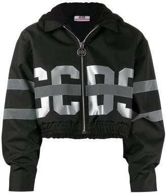 GCDS cropped bomber jacket