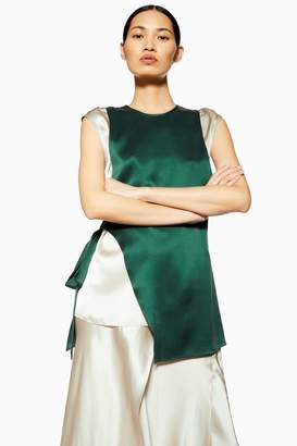 Topshop Double Layer Silk Top by Boutique