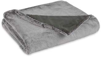 Vellux Faux Fur Gray Throw