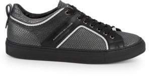 Alessandro Dell'Acqua Chevron Lace-Up Leather Platform Sneakers