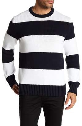 Rag & Bone Austin Striped Crew Neck Knit Sweater