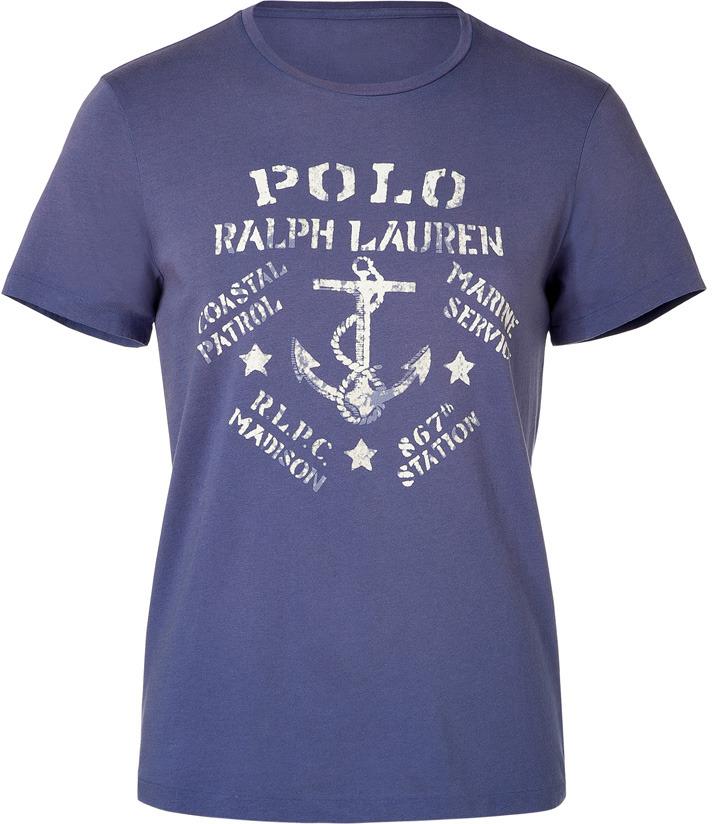 Ralph Lauren Blue Label Classic Blue Jersey Printed T-Shirt