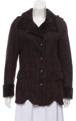 Beretta Leather Shearling Coat