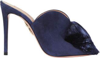 Aquazzura Lotus Blossom Tassel Mule Sandals